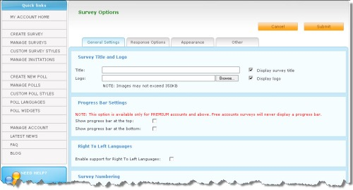 Survey options were easy to set!